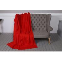 Классический плед из флиса TeddyBoom 200х150 красный