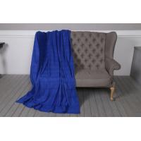 Классический флисовый плед TeddyBoom 200х150 синий