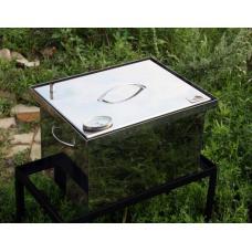 Коптильня 2-ярусная 400х300х280 из нержавеющей стали с термометром Smoke House 4328ТН