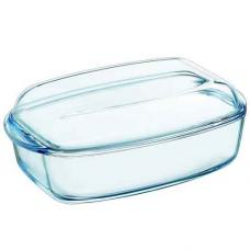 Кастрюля стеклянная прямоугольная 32,6x19,7x13 см., 3 л. Pyrex Essentials 465A000