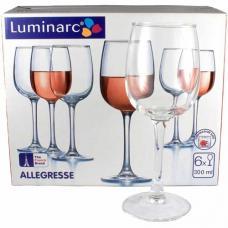 Набор бокалов для вина Luminarc Allegresse 6 x 300 мл. J8164/1