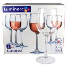 Набор бокалов для вина Luminarc Allegresse 6 x 230 мл. J8163/1