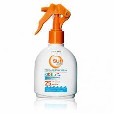 Детское цветное солнцезащитное молочко-спрей со средней степенью защиты SPF 25 Oriflame Sun Zone 23298