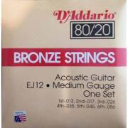 Струны для акустической гитары D'Addario EJ12