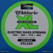Струны для бас-гитары D'Addario EXL220