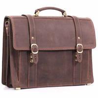 Кожаный портфель ручной работы Manufatto РВМ-3 Crazy Horse коричневый