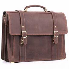 Кожаный портфель ручной работы Manufatto РВМ-3 Crazy Horse