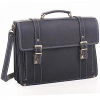 Кожаный портфель ручной работы Manufatto РВМ-3 Crazy Horse синий