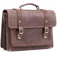 Кожаный портфель ручной работы Manufatto СПС-1 Crazy Horse коричневый