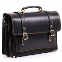 Кожаный портфель ручной работы Manufatto СПС-1