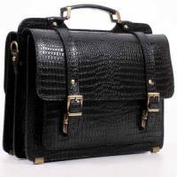 """Кожаный портфель ручной работы Manufatto СПС-1 """"Кроко"""""""