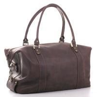 Кожаная дорожная сумка-саквояж Manufatto №1 Crazy Horse коричневая