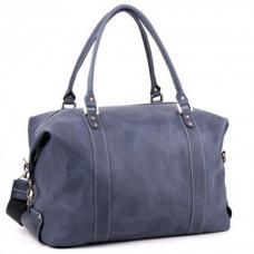 Кожаная дорожная сумка-саквояж Manufatto №1 Crazy Horse синяя