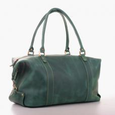 Кожаная дорожная сумка-саквояж Manufatto №1 Crazy Horse зеленая