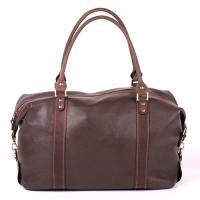 Кожаная дорожная сумка-саквояж ручной работы Manufatto №1 флотар коричневая