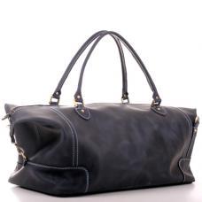 Кожаная дорожная сумка-саквояж Manufatto №2 Crazy Horse синяя