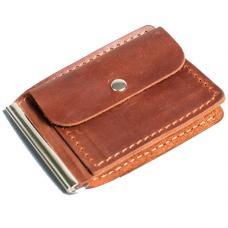 Зажим для денег из натуральной кожи Manufatto №1 крейзи хорс коньяк