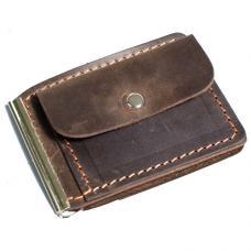 Зажим для денег из натуральной кожи Manufatto №1 крейзи хорс коричневый