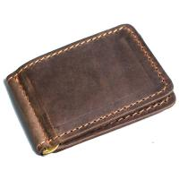 Кожаный зажим для денег Manufatto №2 крейзи хорс коричневый