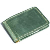 Кожаный зажим для денег Manufatto №2 крейзи хорс зеленый
