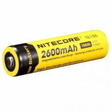 Аккумулятор литиевый Li-Ion защищенный 18650 3.7V 2600 mAh Nitecore NL186