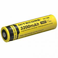 Аккумулятор литиевый Li-Ion защищенный 18650 3.7V 3200 mAh защищенный Nitecore NL188
