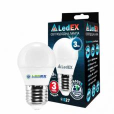 Светодиодная лампа LedEX 3W E27 Premium (Шарик)