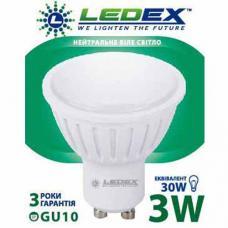 Светодиодная лампа с рефлектором LedEX 3W MR16 GU10 Premium