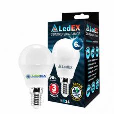 Светодиодная лампа LedEX 6W E14 Premium (Шарик)