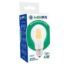 Светодиодная лампа LedEX Filament 4W E27 A60 Premium
