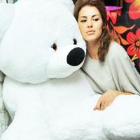 """Огромный плюшевый медведь Алина """"Бублик"""" 200 см."""
