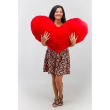 Большое плюшевое сердце TeddyBoom 100 см. красное