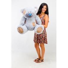 """Плюшевый медведь TeddyBoom """"Гриша"""" 100 см. серый"""