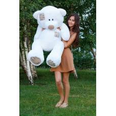 """Плюшевый медведь TeddyBoom """"Гриша"""" 140 см. белый"""