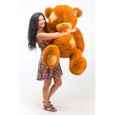 """Плюшевый медведь TeddyBoom """"Гриша"""" 140 см. коричневый"""