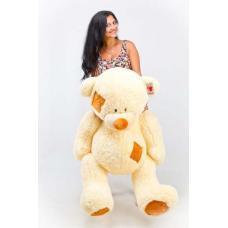 """Плюшевый медведь TeddyBoom """"Гриша"""" 140 см. кремовый"""