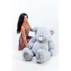 """Плюшевый медведь TeddyBoom """"Гриша"""" 140 см. серый"""