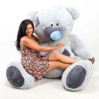 """Огромный плюшевый медведь TeddyBoom """"Гриша"""" 250 см. серый"""