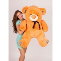 """Плюшевый медведь TeddyBoom """"Клетка"""" 130 см. карамельный"""