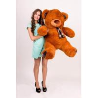 """Плюшевый медведь TeddyBoom """"Клетка"""" 130 см. коричневый"""