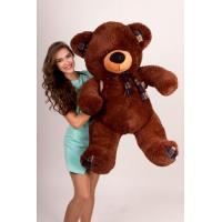 """Плюшевый медведь TeddyBoom """"Клетка"""" 130 см. шоколадный"""