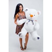 """Плюшевый медведь TeddyBoom """"Веня"""" 130 см. белый"""