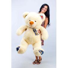 """Плюшевый медведь TeddyBoom """"Веня"""" 130 см. кремовый"""