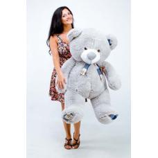 """Плюшевый медведь TeddyBoom """"Веня"""" 130 см. серый"""