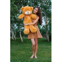"""Плюшевый медведь TeddyBoom """"Тедди"""" 80 см. карамельный"""