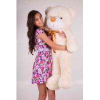 """Плюшевый медведь TeddyBoom """"Тедди"""" 120 см. кремовый"""