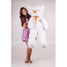 """Плюшевый медведь TeddyBoom """"Тедди"""" 140 см. белый"""