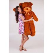 """Плюшевый медведь TeddyBoom """"Тедди"""" 140 см. коричневый"""