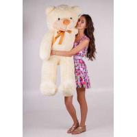 """Плюшевый медведь TeddyBoom """"Тедди"""" 140 см. кремовый"""