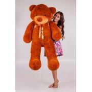 """Большой плюшевый медведь TeddyBoom """"Тедди"""" 160 см. коричневый"""